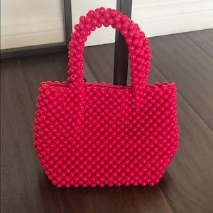 Zara pink beaded mini bag